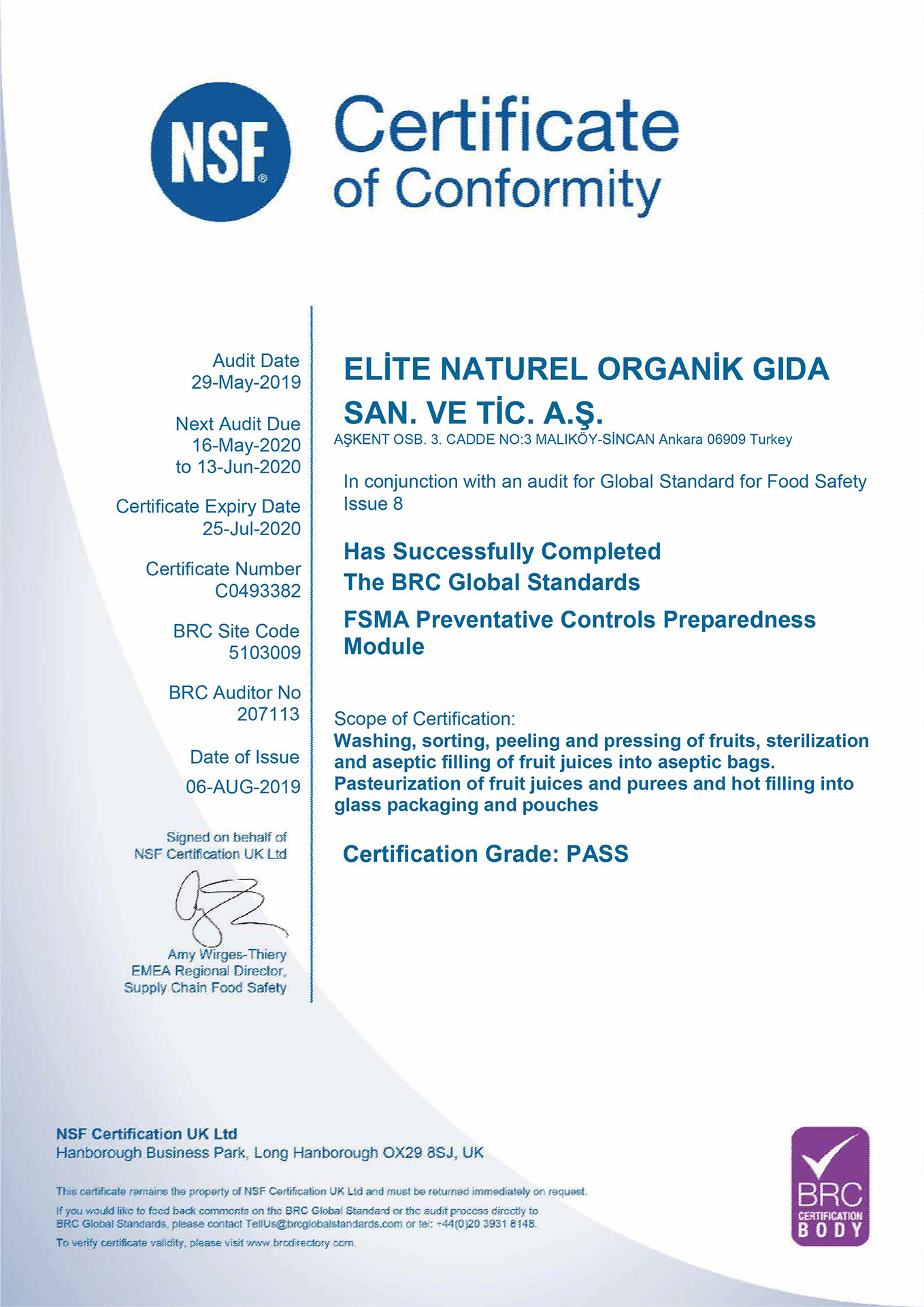 brcbody uluslararasi standart sertifikasi